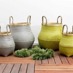 Round Gucci Dandang Rattan Bamboo Basket Set Of 2