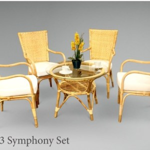 Symphony Rattan Living Set