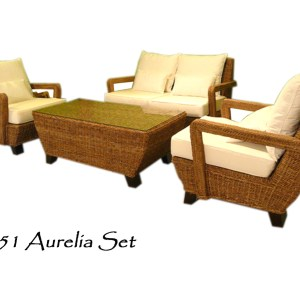 Aurelia Wicker Living Set