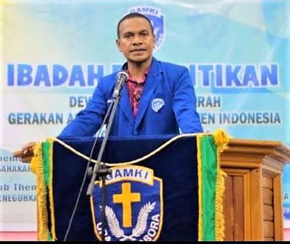Ketua DPD GAMKI Provinsi Papua, Dominggus B Stanley Noya