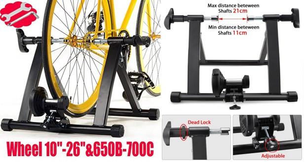 Yaheetech Indoor Magnet Steel Bike Exercise Trainer Stand