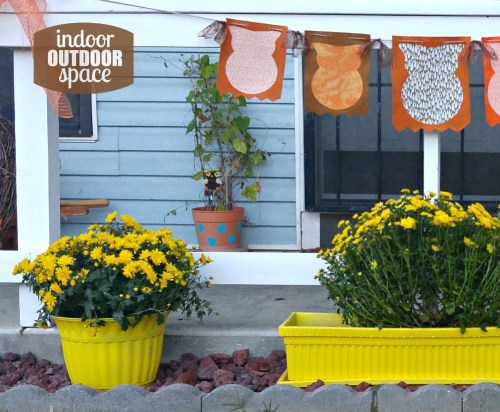 Upcycle Fall outdoor decorations with spray paint