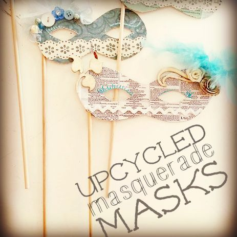 upcycled masquerade ball masks craft tutorial