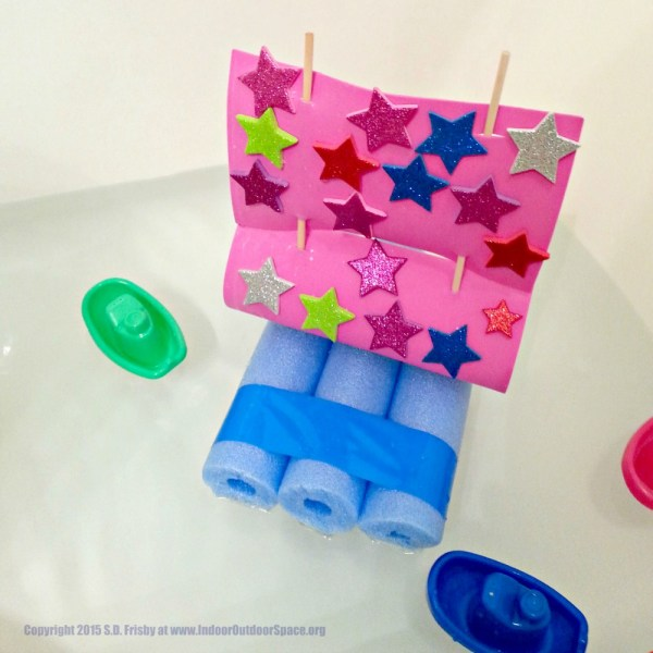 Pool Noodle Kids Bible Craft for Noahs Ark and The Flood