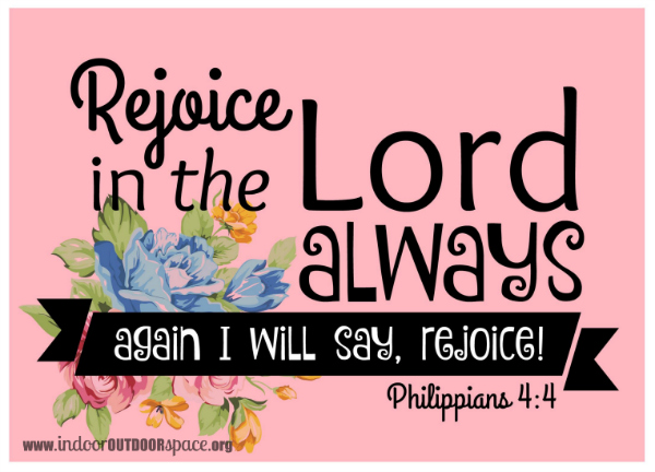 Free bible verse printable of Philippians 4 with pink background and roses