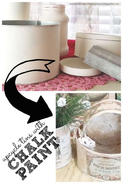 Upcycle Tins with Budget Friendly DIY Chalk Paint
