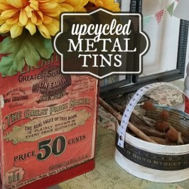 Upcycled metal tins using DIY chalk paint tutorial