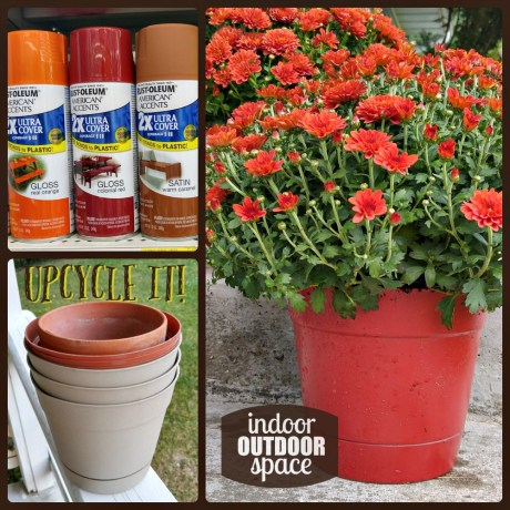 Upcycled spray painted flower pots DIY craft tutorial