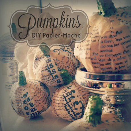 diy papier mache pumpkins recipe tutorial craft
