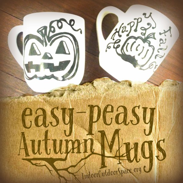 easy peasy autumn mugs DIY sharpie craft