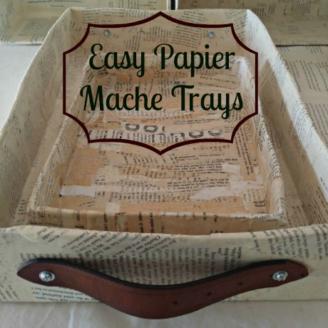 Easy Recycled Papier Mache Trays Tutorials