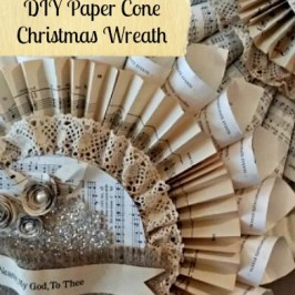 DIY Paper Cone Wreath