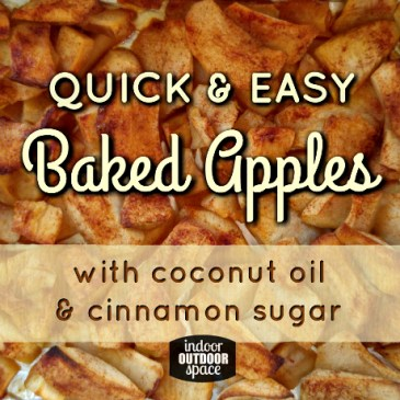 Quick & Easy Baked Apples with Coconut Oil and Cinnamon Sugar