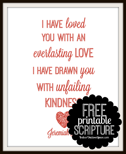 Jeremiah 31 Everlasting Love Valentines Day Free Scripture Printable Art