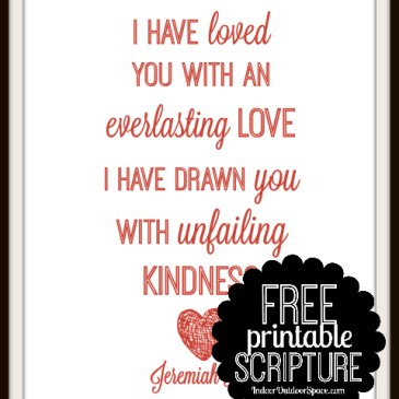 Free Everlasting Love Scripture Verse Printable from Jeremiah