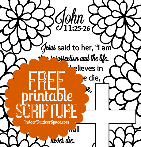 Free Scripture Verse Easter Coloring Page From John 11 Indoor Outdoor Space
