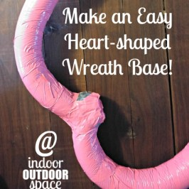 Make an Easy Heart Shaped Pool Noodle Wreath Base