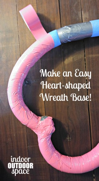 How to Make a Pool Noodle Heart Shape Wreath