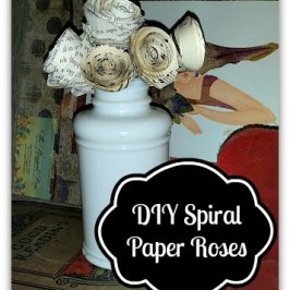 Spiral Paper Roses DIY Indoor Decor Craft Tutorial