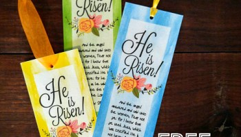Free printable scripture he is risen easter bookmarks indoor easy laminated easter bookmarks gift with free printable negle Image collections