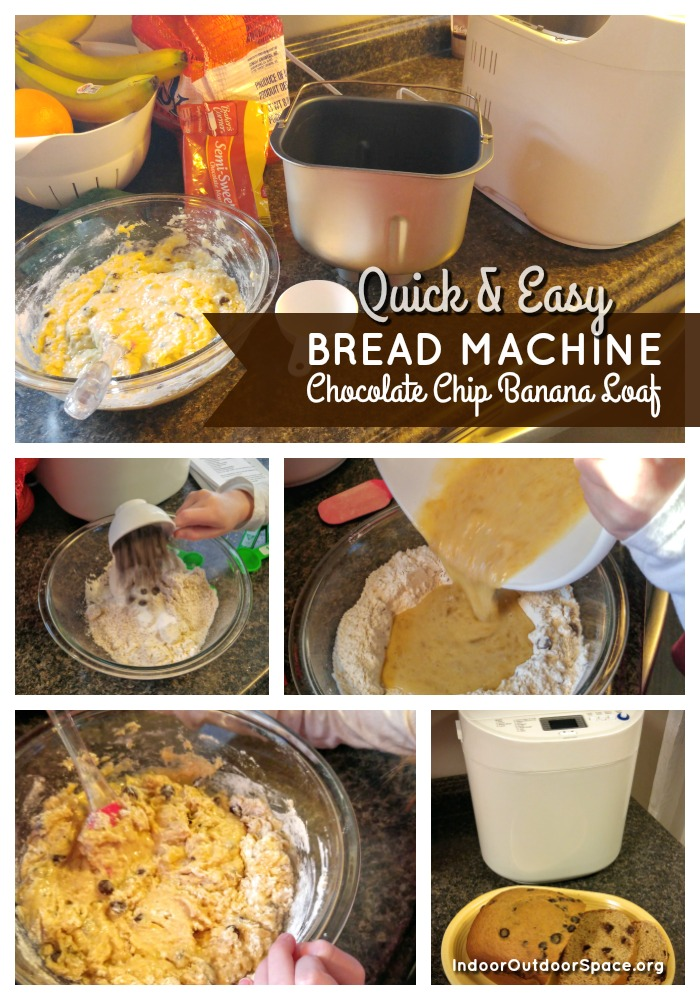 Quick and Easy Bread Machine Recipe for Choc Chip Banana Loaf at Indoor Outdoor Space