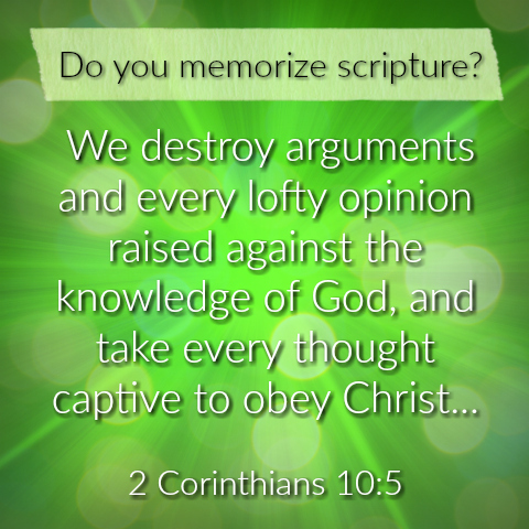 Do you memorize scripture verses? Part 2