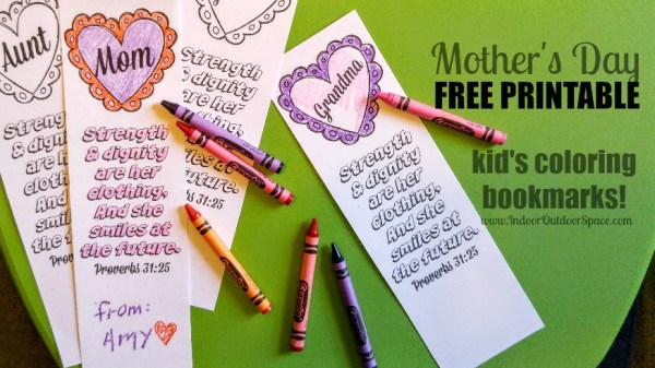 Free Printable Scripture Bookmarks for Mothers Day at Indoor Outdoor Space