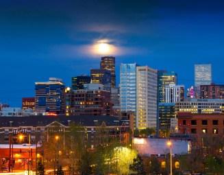 Full Moon Above Denver
