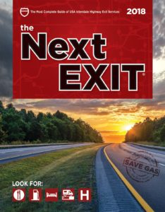 the next exit book, lodging, shopping, gas, rv living, camping, tent camping, campgrounds, US exit info, places to eat