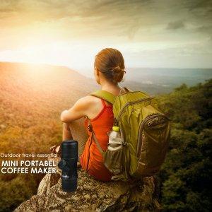 camping coffee, coffeemaker, portable espresso machine, camping espresso, hiking coffee