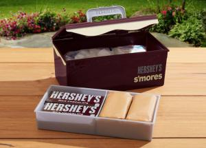hershey's s'mores caddy, campfire, s'mores, hersheys, camp out, camp cooking, camping activity