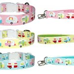 Camping Dog Collar with Optional Matching Wrist Strap Key Fob