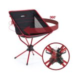 Compaclite Patented 360 Rotating Ultra-Light Duralumin Swivel Mesh Chair for Backpacking Camping Hiking Fishing BBQ Beach with Carry Bag