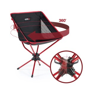 camping, backpacking, hiking, fishing, outdoor events, family, vacations, road trip, glamping, swivel chair, affordable