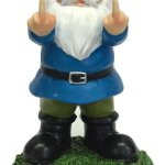 Gnometastic Double Bird Middle Finger Garden Gnome