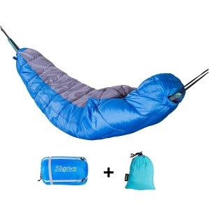 mummy sleeping bag, single sleeping bag, hammock sleeping bag, sleeping hammock, portable, compression sleeping bag, to 50 degrees, 50F, backpacking, tent camping