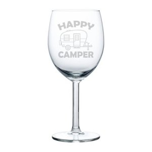 wine goblet, stemmed wine glass, 10 ounce, wine glass, glamping, camping, retro, vintage shasta, teardrop trailer, beer, wine