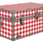 Red Gingham – Cottage & Cabin Storage Trunk – Themed Footlockers – 32 x 18 x 13.5 Inches