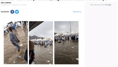 [KLARIFIKASI] Penjelasan Menteri Agama Terkait Kabar Mina Banjir dan Tidak Kondusif