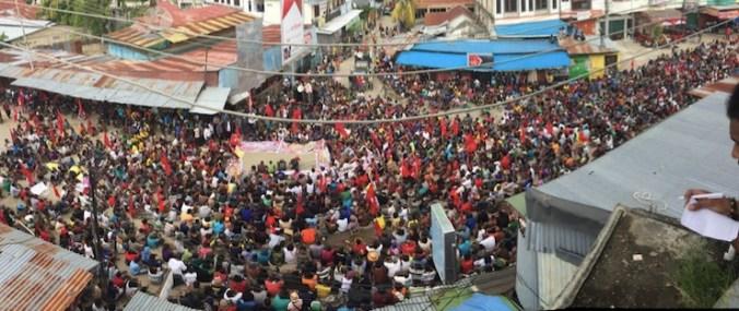 Demo Akbar KNPB 31/5/2016 di Perumnas 3 Waena, lokasi dimana Mako Tabuni–pimpinan KNPB–ditembak 14/6/2012