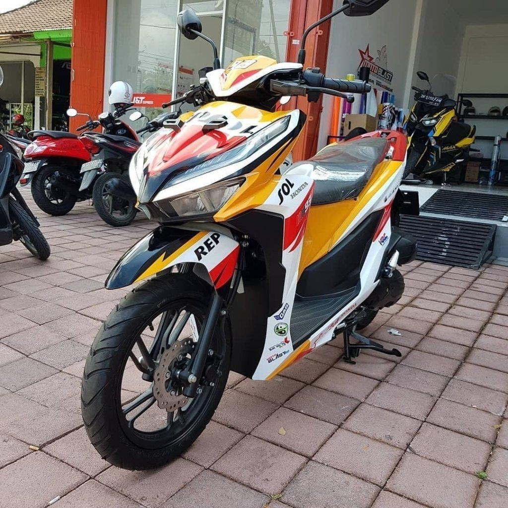 Modifikasi Honda All New Vario 150 Repsol Edition Makin Sporty Ala