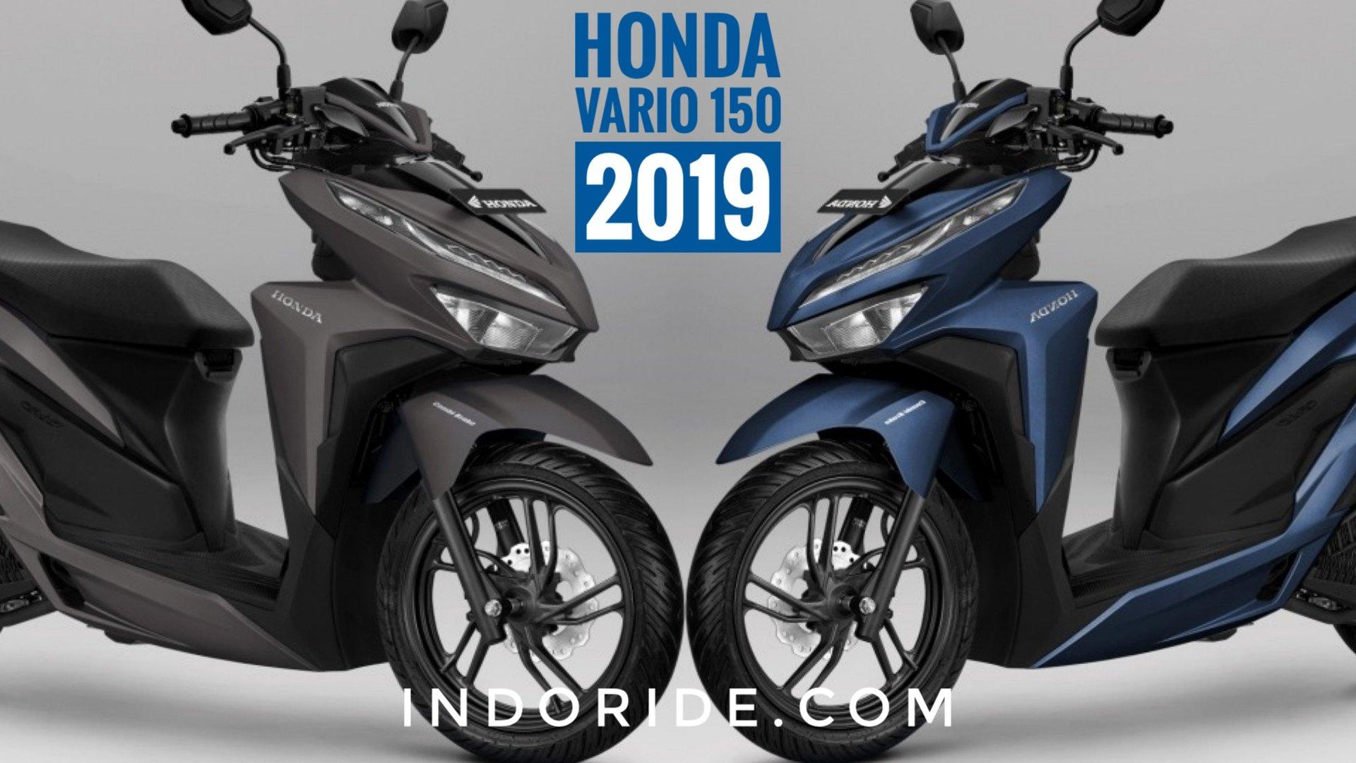 Pilihan Warna Baru Honda Vario 150 2019 Biru Doff Dan
