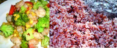 Resep Nasi Merah Cah Brokoli Udang