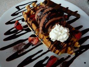resep wafel coklat