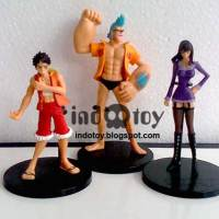 Jual One Piece Figure Collection : Luffy, Nico Robin, Franky Figure