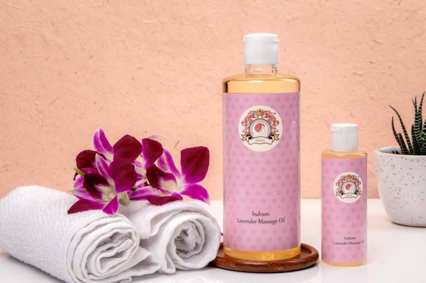 Indrani Cosmetics Lavender Massage Oil