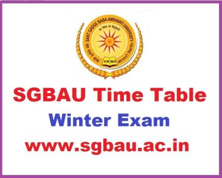 SGBAU BA B.Sc B.Com Part 1 2 3 Winter Time table 2018-2019