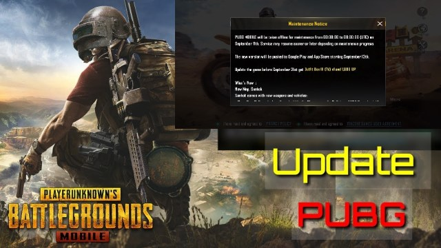 PUBG Mobile maintenance Update on 11.09.2018