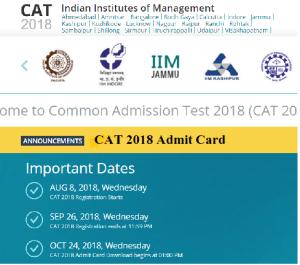 CAT 2018 hall Ticket