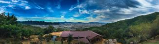 Around Japan - Kyoto Panorama from Arashiyama Monkey Park by Matias Masucci